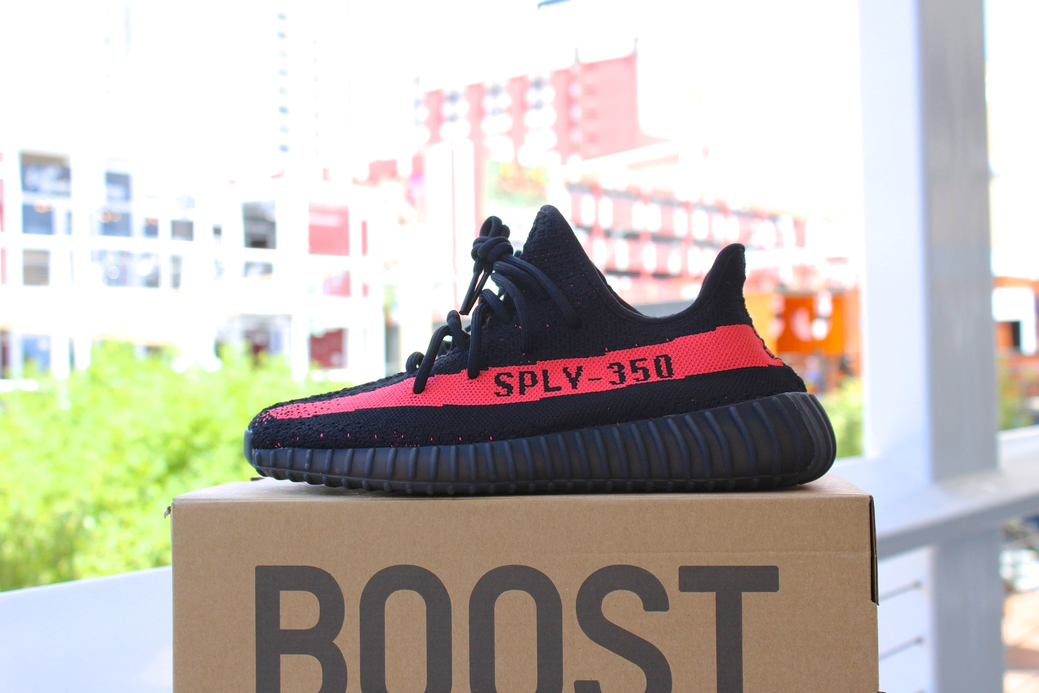 Adidas Yeezy Boost 350 V2 (Red Stripe)