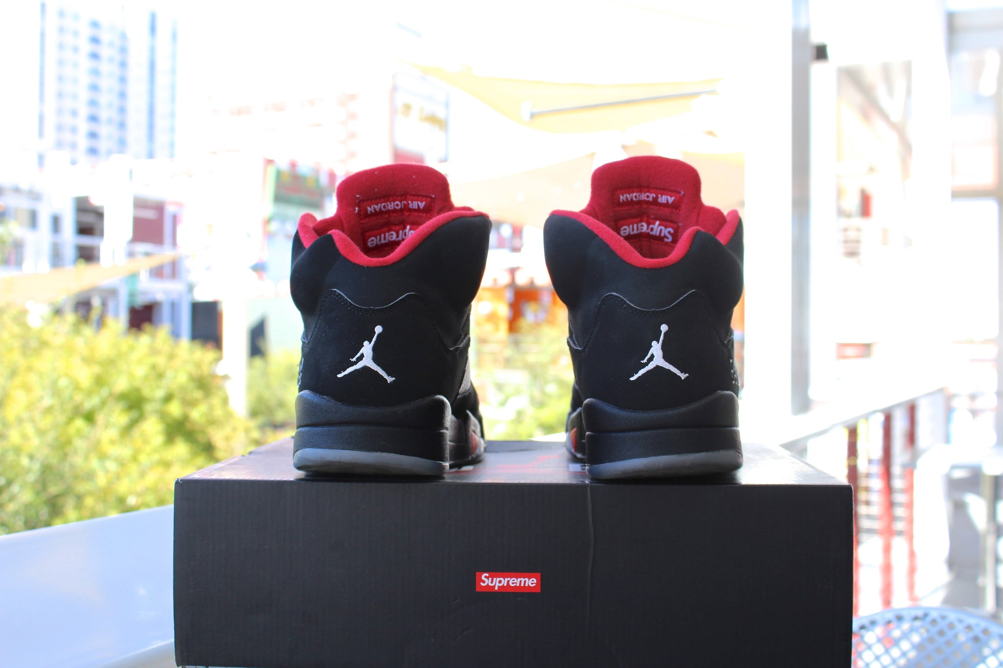 Supreme x Air Jordan 5 (Black)