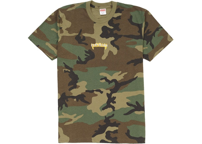 Supreme - Fronts Tee Woodland Camo