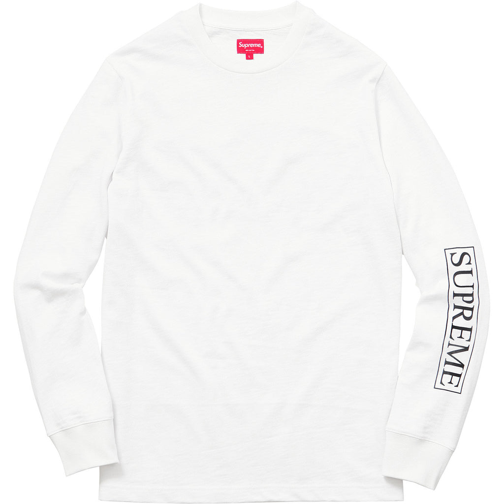 Supreme - Roma Long Sleeve Tee (White)