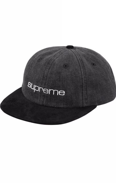 Supreme Denim Suede Hat S/S '18