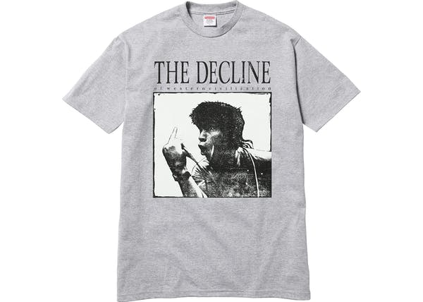 Supreme - Decline of Western Civilization Tee (Gray)