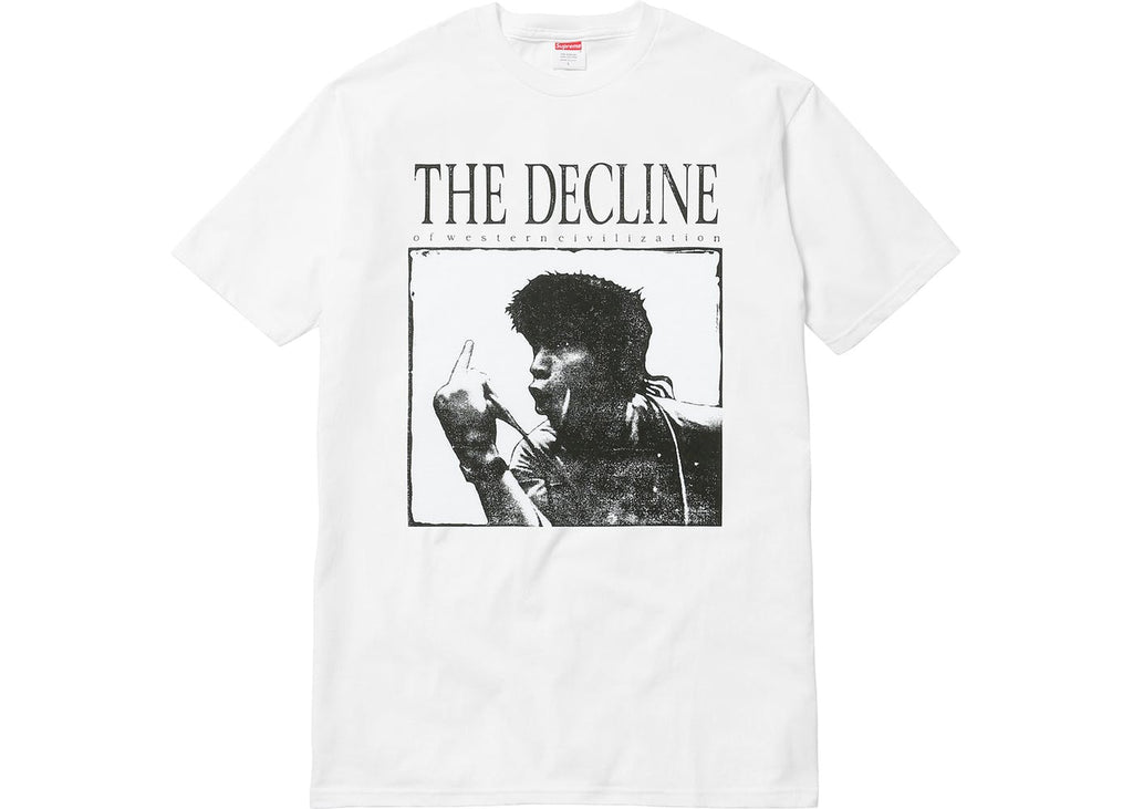 Supreme - Decline of Western Civilization Tee (White)