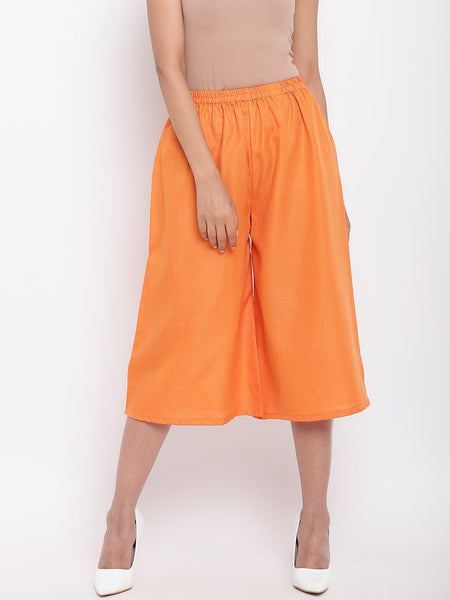 Linen Cotton Orange Pant