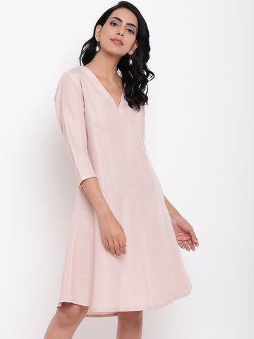 Linen Cotton Rose Dress