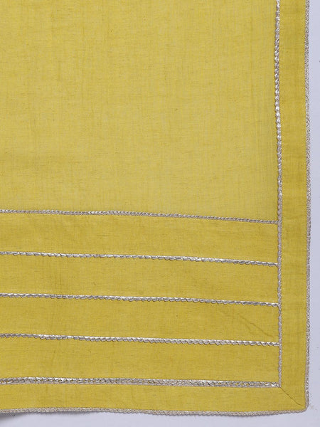 Khadi Yellow Gota Saree