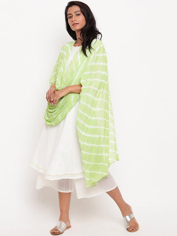 Green Leheriya Dupatta