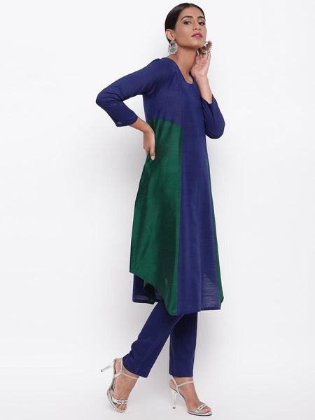 Blue Green Kurta-Pant