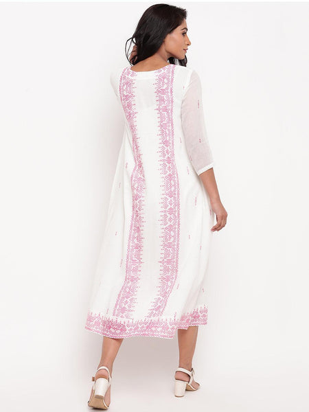 Mul Pink Pattern Dress
