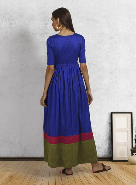 Jewel Blue Double Border Dress