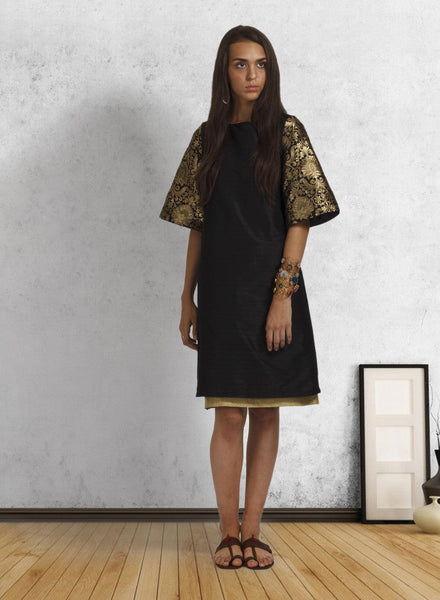 Black Bell Sleeve Ethnic Tunic