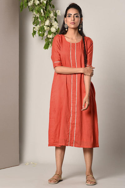 Orange Center Panel Dress