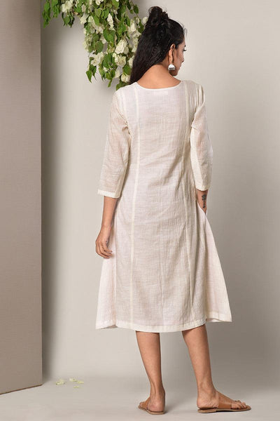 White Panelled Dress