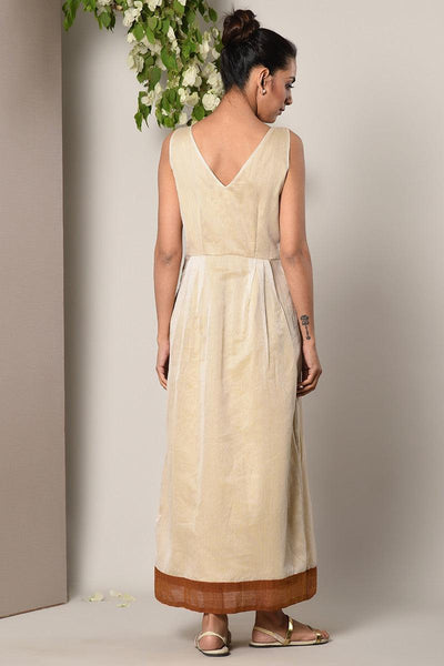 Ivory Bronze Border Dress