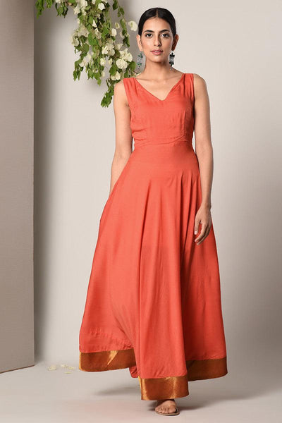Orange Bronze Border Dress