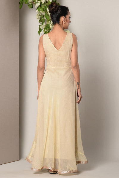 Ivory Cotton Net Dress