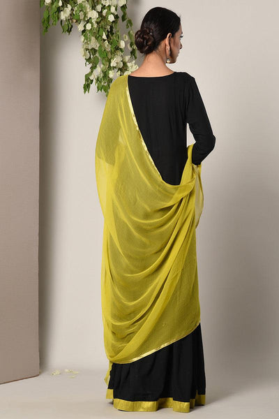 Black Green Border Dress