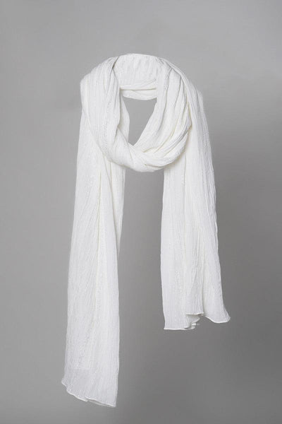 White Crinkled Dupatta