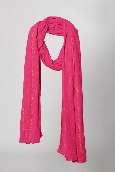 Pink Golden Crinkled Dupatta