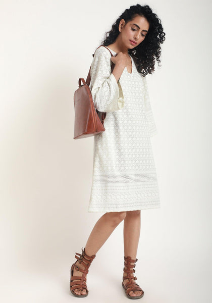 Ivory Chicken Bell Dress