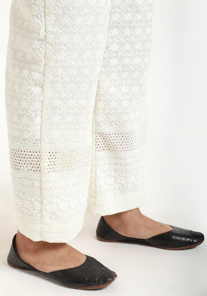 Ivory Chicken Bordered Pant