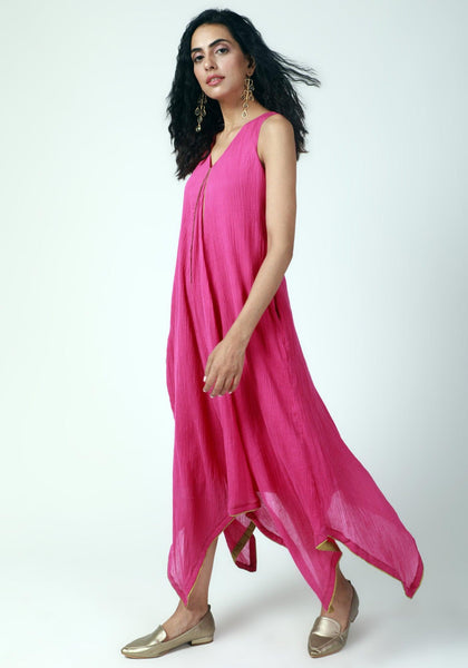 Pink Asymmetric Dress