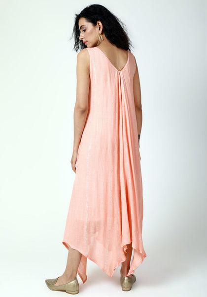 Peach Asymmetric Dress