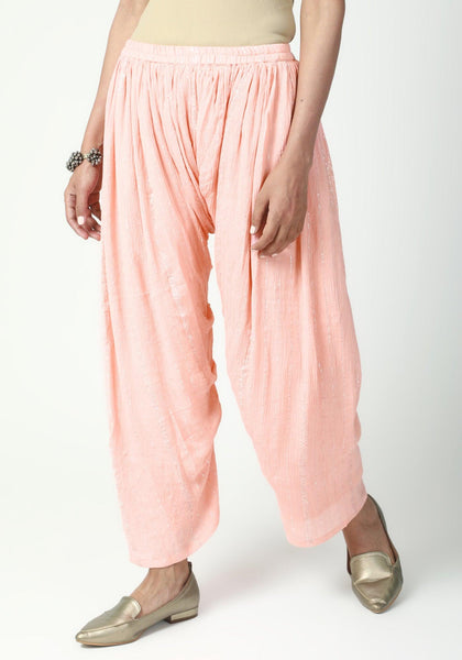 Peach Ruffled Pant