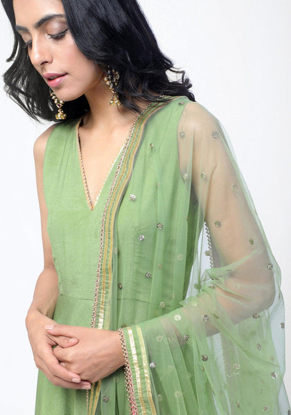 Green Gota Dress Set