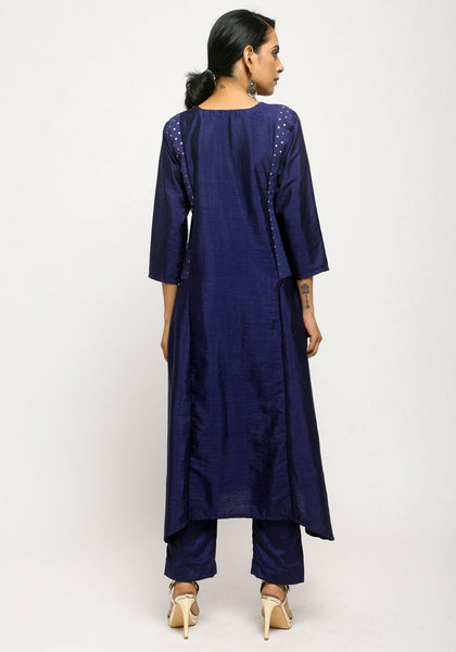 Blue Side Foil Kurta