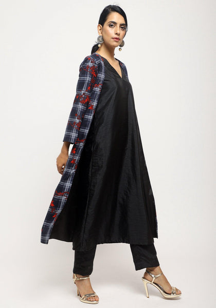 Black Red Check Jacket