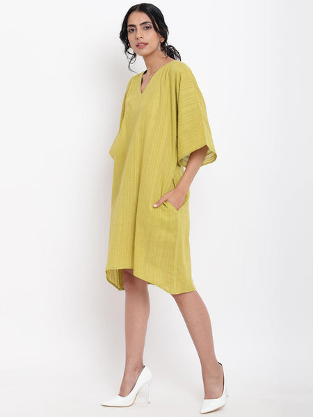 Green Cotton Kaftan