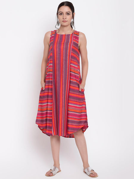 Pink Stripe Kurta Dress