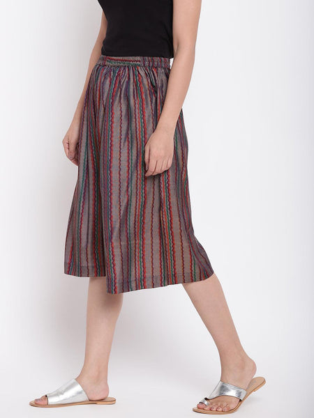 Brown Current Stripe Pant