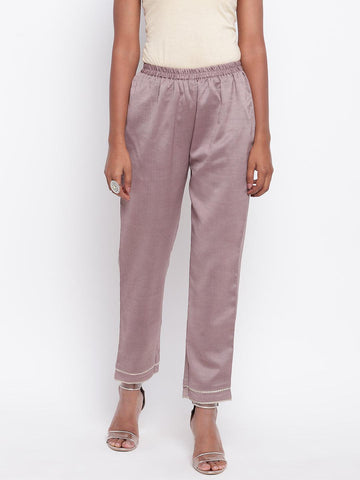 Rosy Brown Gota Pant