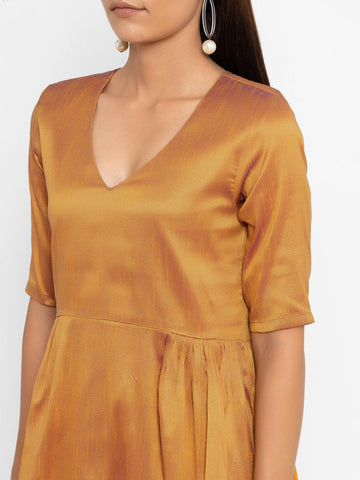 'SEPTEMBER-Separates-SPECIAL' Golden Silk Blend Kurta