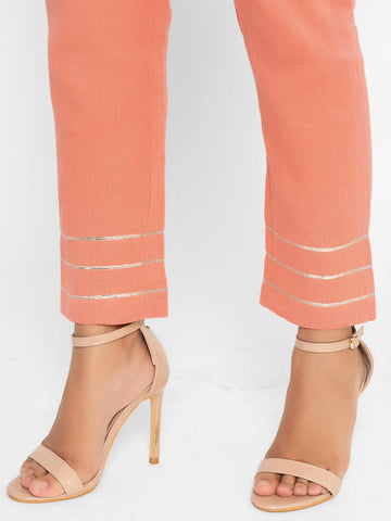'SEPTEMBER-Separates-SPECIAL' Khadi Peach Gota Pant