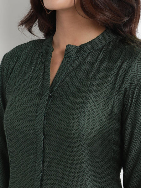 Green Silk Embroidered Jacket