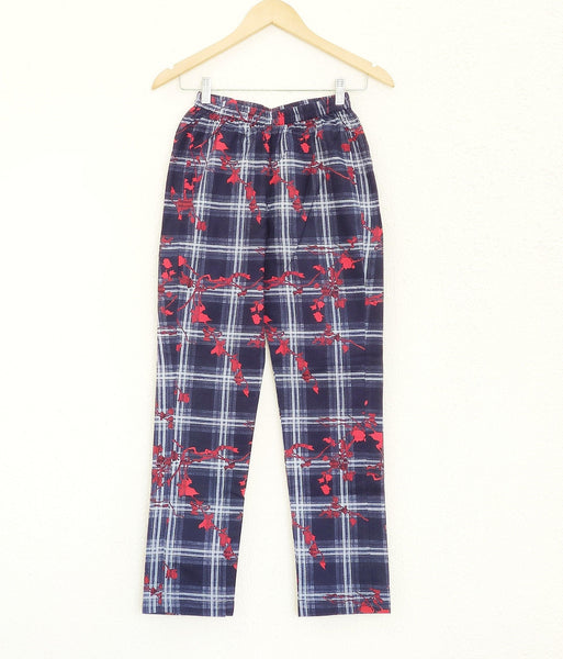 Cotton Red Printed Pant