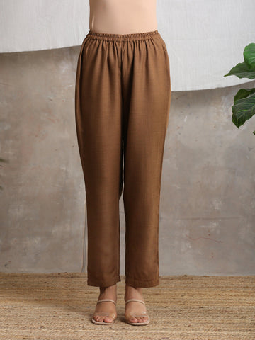 Cotton Linen Brown Pant