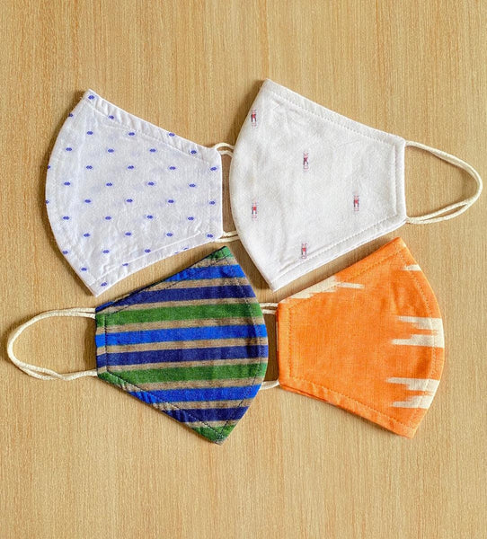 Reusable ORGANIC Cotton Masks (Pack of 4) TBMM069