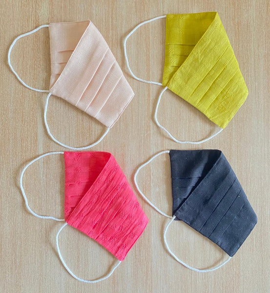 Reusable ORGANIC Cotton Masks (Pack of 4) TBMM074