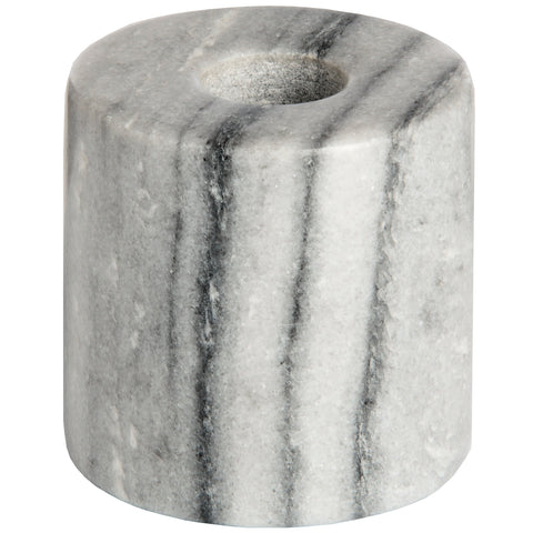 Stylish Grey Marble Dinner Candle Holder - Natural Home Decoration