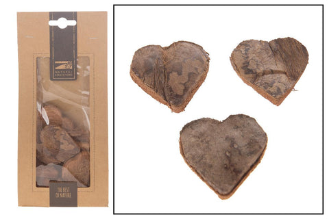 Boxed Coconut  Hearts   - Natural Craft - Decoration - Wooden Hearts - Paradise Crow -  Natural Design & Interiors