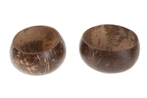 Natural Polished Coconut - Half Open Top - Natural Craft and Interiors - Paradise Crow -  Natural Design & Interiors