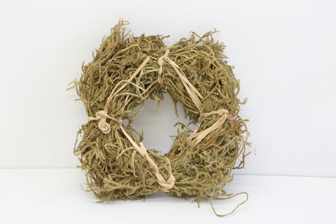 Natural Christmas Wreath ( 20cm)- Hair Vine and Raffia.- Natural Christmas Decorations. - Paradise Crow -  Natural Design & Interiors