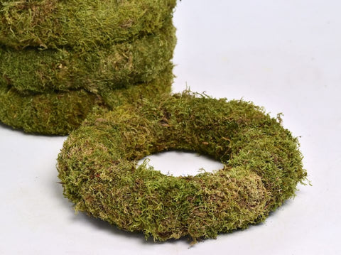 Natural Moss Christmas Wreath ( 25cm)- Moss- Natural Christmas Decorations. - Paradise Crow -  Natural Design & Interiors