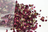 Dried Rose Petals - Deep Red - Rose Buds - 25g, 50g, 100g- Wedding Decorations- - Paradise Crow -  Natural Design & Interiors