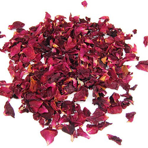 Dried Red Rose Petals - Crimson Red - Rose Buds - 25g, 50g, 100g- Wedding Decorations- - Paradise Crow -  Natural Design & Interiors