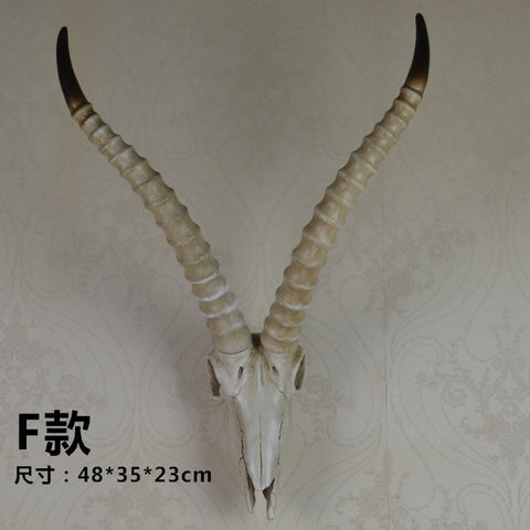 wall mounted antelope skull wall art plaque hunt sculpture-faux taxidermy  home decor ornamnent - Paradise Crow -  Natural Design & Interiors